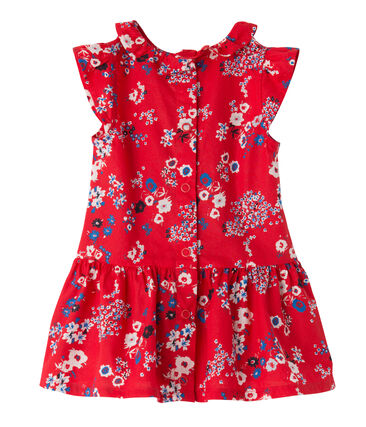 Robe bébé fille imprimée rojo Peps / blanco Multico
