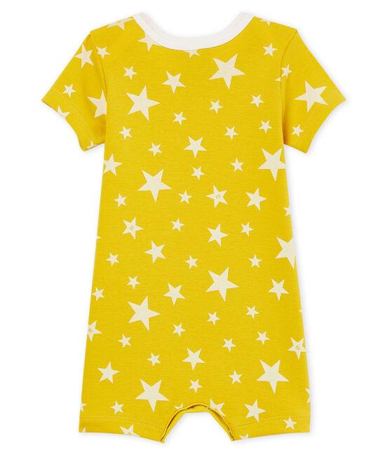 Mono corto de punto para bebé niño amarillo Honey / blanco Marshmallow
