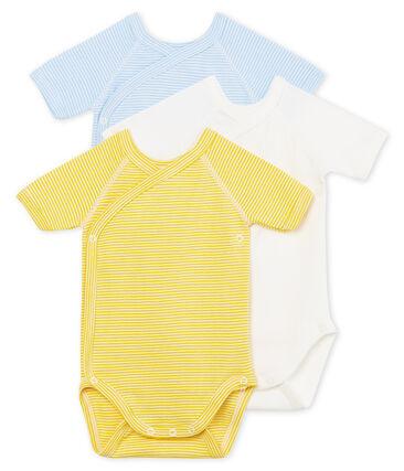 Tres bodis de nacimiento manga corta para bebé niño