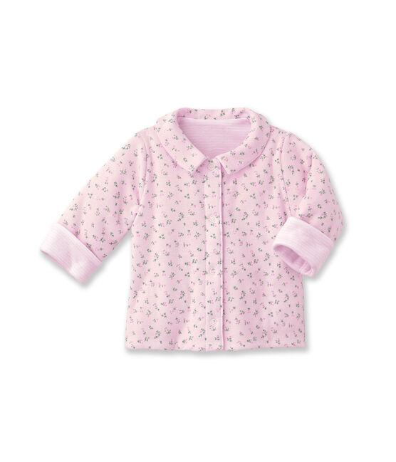 Unisex baby padded reversible milleraies jacket rosa Vienne / blanco Ecume