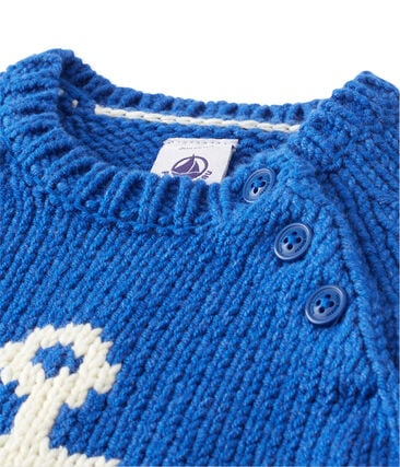 Jersey en jacquard bebé niño azul Limoges