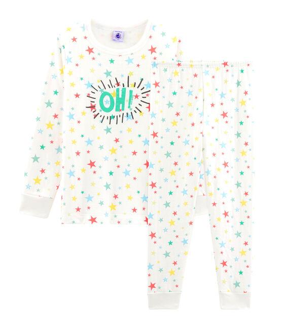 Pijama de tela túbica para blanco Marshmallow / blanco Multico