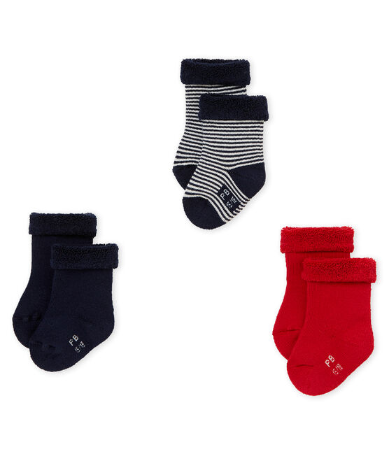 Lote de tres pares de calcetines mixtos de bebé lote .