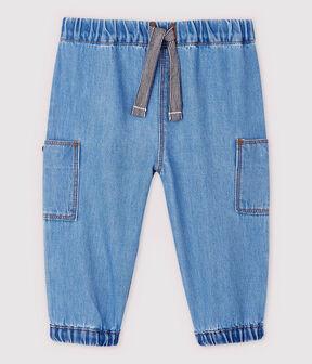 Pantalón vaquero claro de bebé niño azul Denim clair