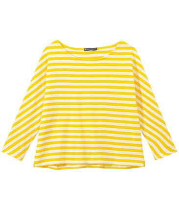 Camiseta de manga tres cuarto rayado