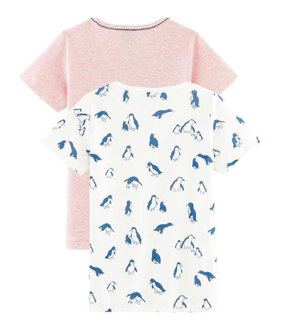 Par de camisetas manga corta para niña lote .