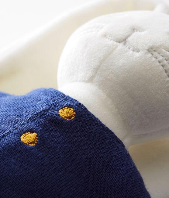 Doudou conejito marinero blanco Marshmallow / azul Smoking