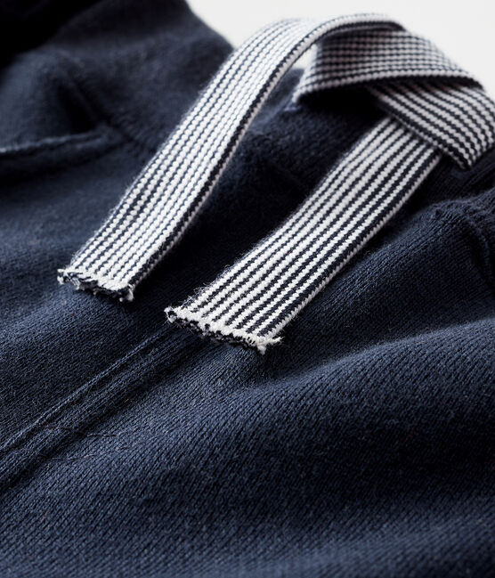 Pantalón de muletón liso para bebé niño azul Smoking
