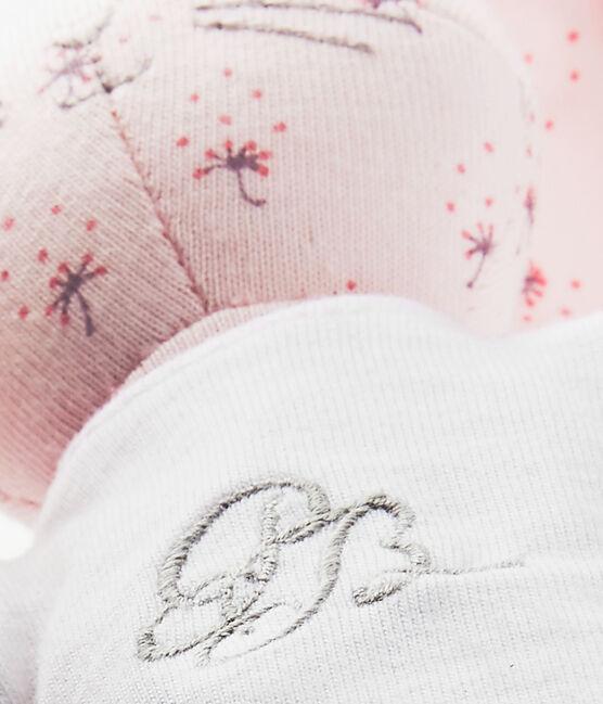 Doudou conejito estampado rosa Vienne / blanco Multico