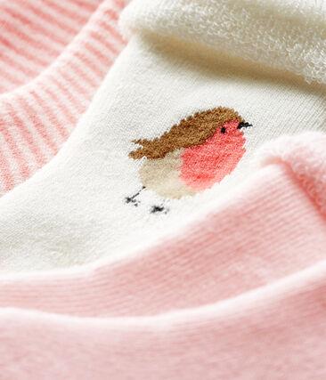 Lote de tres pares de calcetines para bebé de toalla lote .