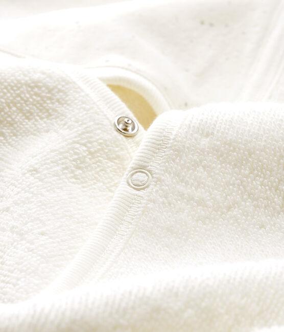 Capa de baño de rizo para bebé blanco Marshmallow