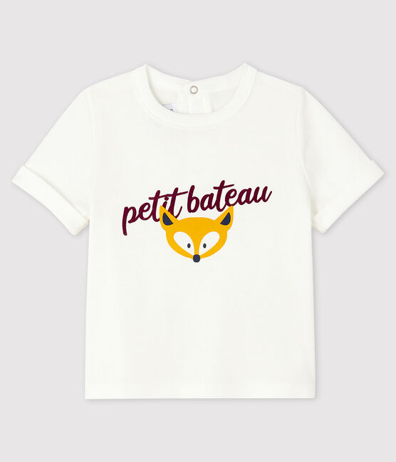 Camiseta para bebé niño blanco Marshmallow
