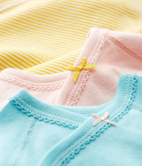 Tres bodis de nacimiento manga corta para bebé niña lote .
