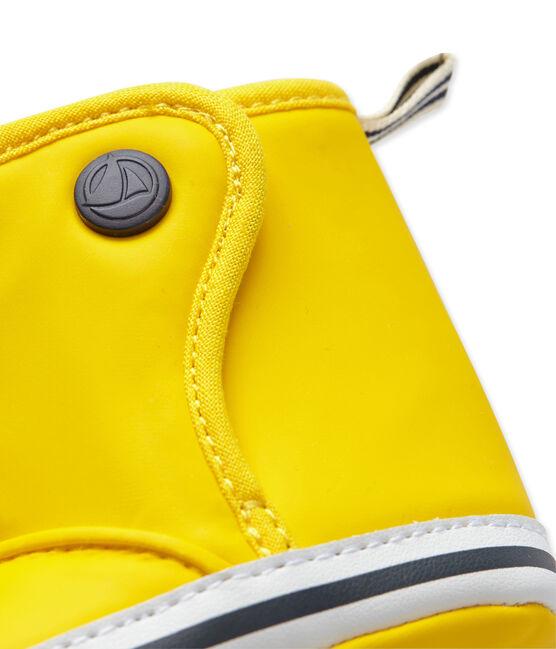Patucos tipo botín de lluvia para bebé amarillo Jaune