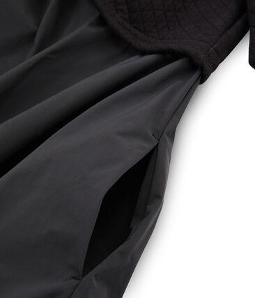 Robe bi-matière manches longues femme negro Noir