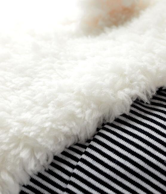 Gorro de sherpa para bebé niña/niño blanco Marshmallow
