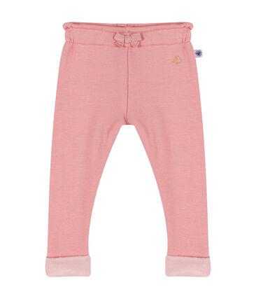 Pantalón de terciopelo para bebé niña rosa Charme