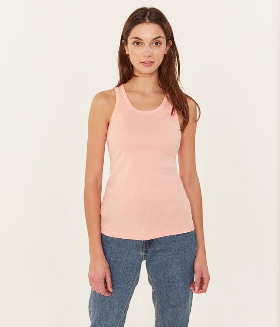 Camiseta de tirantes para mujer rosa Rosako