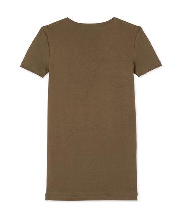 Camiseta con cuello en pico, de punto original, para mujer