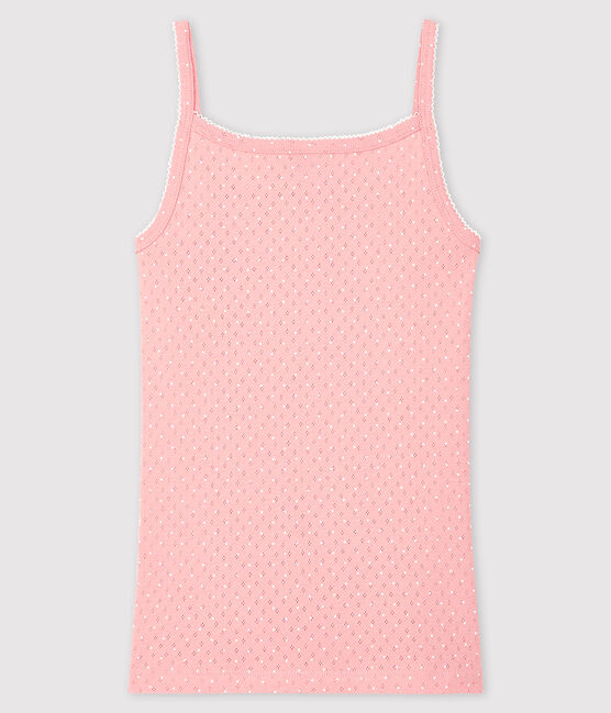 Camisa de tirantes fantasía para mujer rosa Charme / blanco Ecume