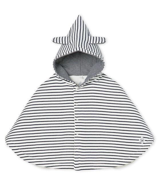 Capa icónica para bebé de acanalado acolchado blanco Marshmallow / azul Smoking