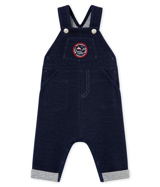 Peto para bebé em malla azul Smoking