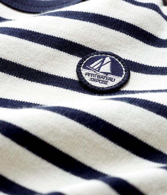 Jersey marinero emblemático para bebé beige Coquille / azul Smoking