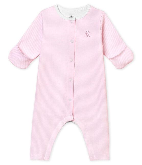 Pelele sin pies para bebé mixto con body integrado rosa Pearl / blanco Multico