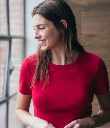 Camiseta de manga corta icónica de mujer rojo Terkuit