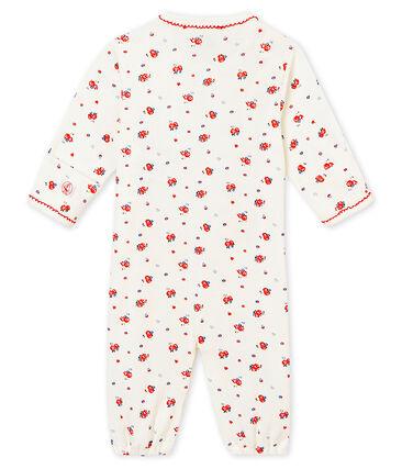 Saco para bebé niña en punto 1x1 estampado