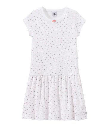 Camisón con corazones estampados para niña blanco Ecume / rosa Rose