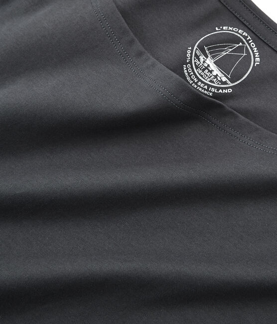 Camiseta manga corta de algodón sea island para mujer gris Maki