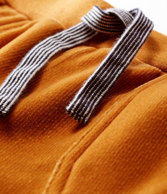 Pantalón de pana para bebé niño marrón Cuivre