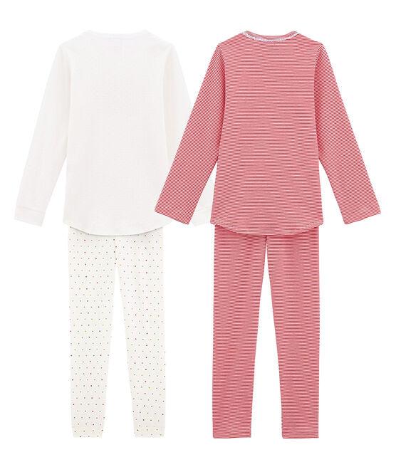 Lote de 2 pijamas ligeros para niña pequeña lote .