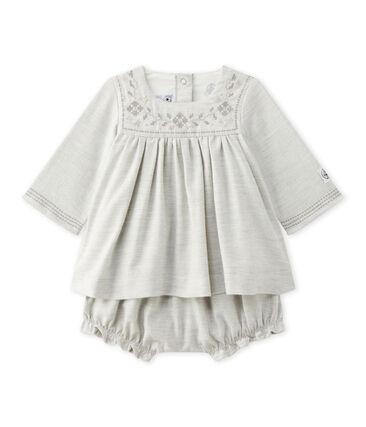 Vestido y bloomer para bebé niña gris Gris Chine