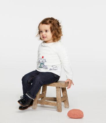 Blusa de manga larga para bebé niña blanco Marshmallow