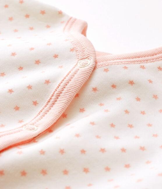 Pijama de terciopelo para bebé niña blanco Marshmallow / rosa Minois