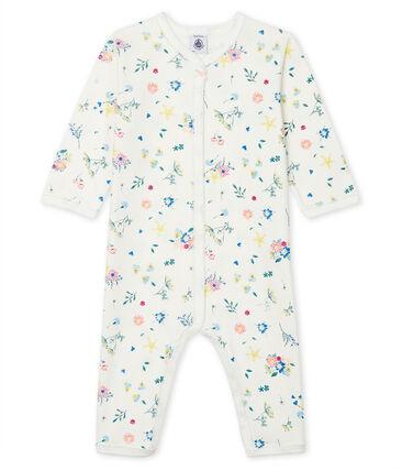 Pijama sin pies de punto para bebé de niña blanco Marshmallow / blanco Multico