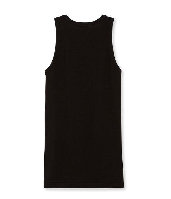 Camiseta de tirantes para mujer lisa negro Noir