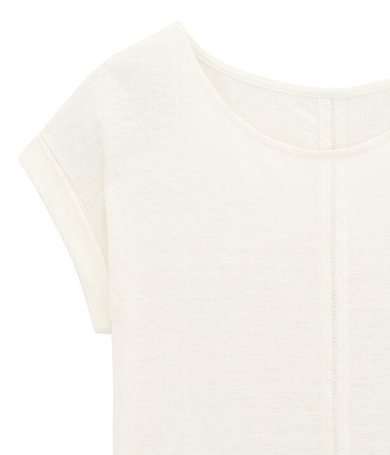Camiseta de manga corta blanco Lait