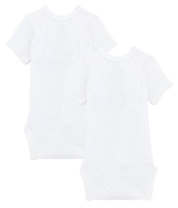 Par de bodis de nacimiento manga corta para bebé unisex