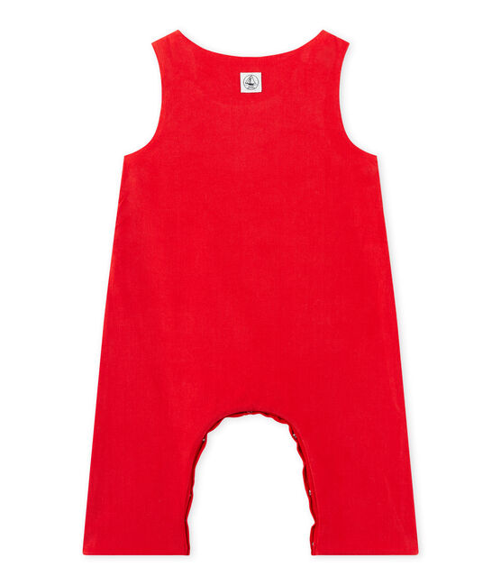 Peto de terciopelo para bebé niño rojo Froufrou