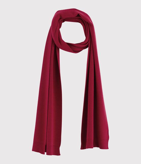 Bufanda de lana para mujer rojo Terkuit