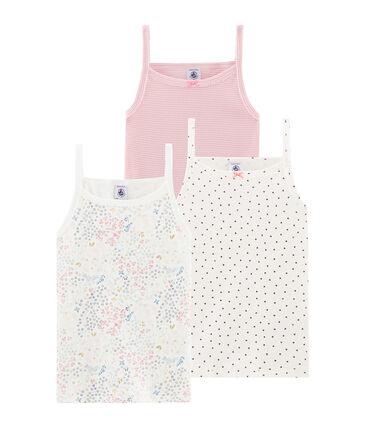 Trio de camisas con tirantes para niña