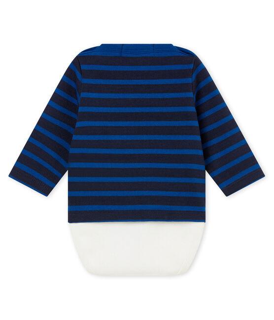 Body marinero icónico para bebé niño azul Smoking / azul Limoges