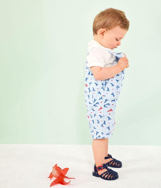 Peto corto estampado para bebé niño blanco Marshmallow / blanco Multico