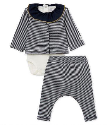 Conjunto 3 piezas de rayas para bebé niña