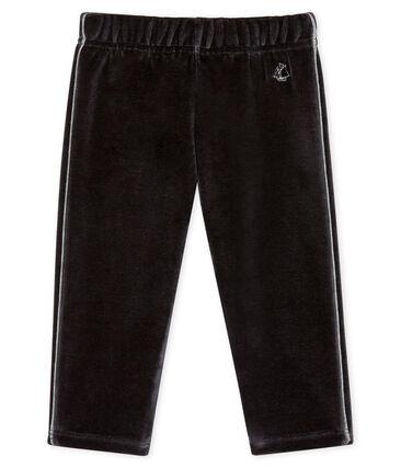 Pantalón de terciopelo para bebé niño negro Noir