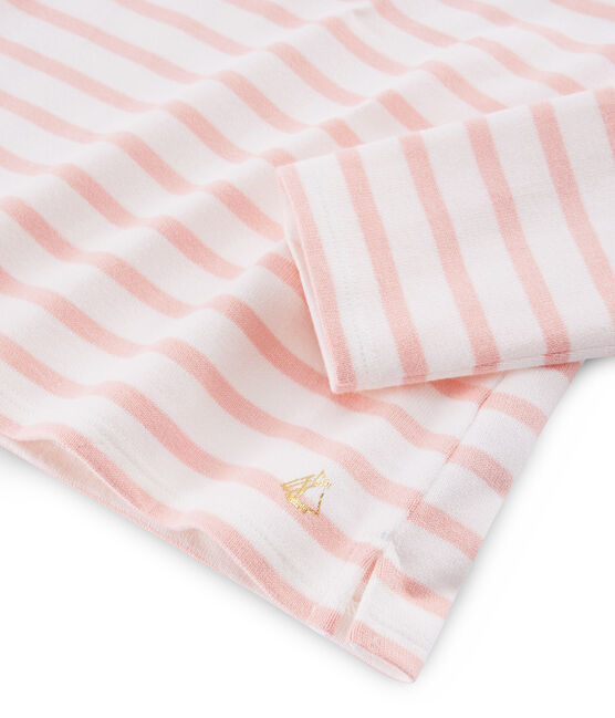 Marinera con lazo para niña blanco Marshmallow / rosa Patience