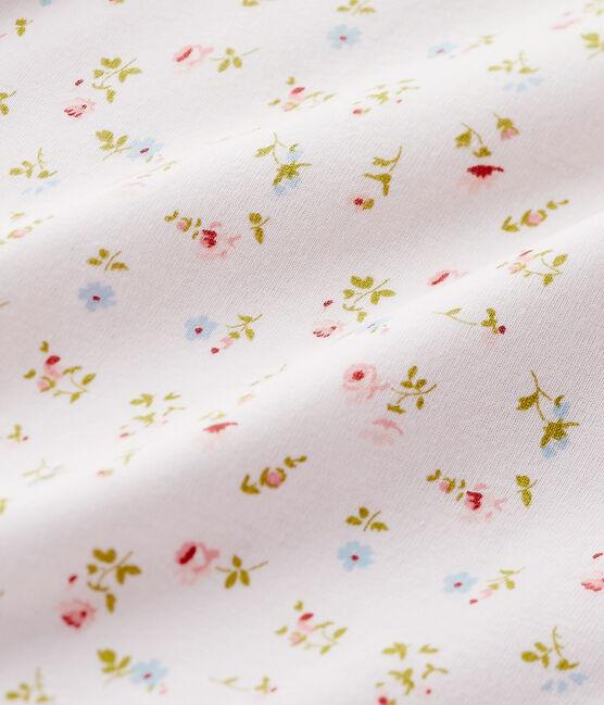Chemise de nuit fille à imprimé petites fleurs rosa Vienne / blanco Multico